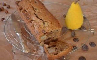 Cake poire noisette et chocolat