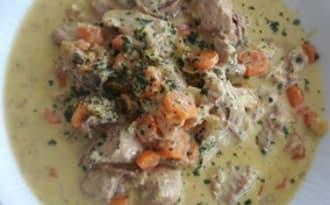 Blanquette de veau au citron confit et à la crème safranée