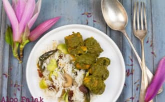 Aloo palak ou curry de patate douce aux épinards