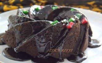 Gâteau tout chocolat au micro-ondes