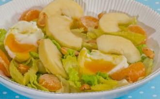 Salade d'oeufs, pomme et clémentine