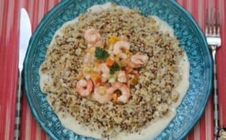 Crevettes coco express au quinoa