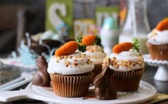 Le carrot cake cupcakes