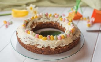 Carrot cake de Pâques et glaçage mascarpone
