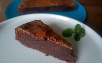 Gâteau ultra fondant chocolat, marron et rhum