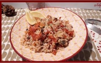 Riz aux fruits de mer et chorizo