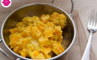 Dahl de butternut et lentilles corail au lait de coco
