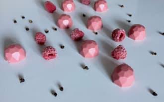 Ganache ruby, framboise, poivre de Timut