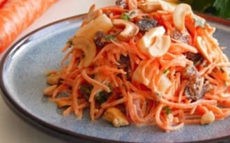 Salade fraîcheur carottes et ananas