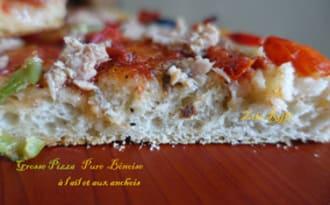 Pizza à la semoule ail et anchois