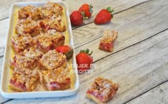 Carrés croustillants aux fraises