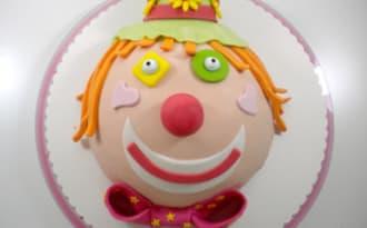Un gâteau clown pour Marion