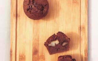 Muffins poire chocolat caramel
