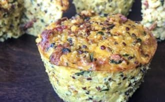 Muffins salés tomates séchées épinards