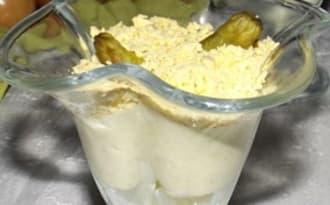 Verrines aux asperges mimosa et roquefort