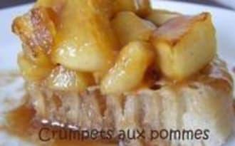 Crumpets aux Pommes et au Caramel Coulant