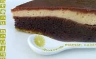 Le Gâteau Magique aux 2 Chocolats et Pistaches