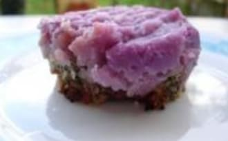 Parmentier de Vitelottes au Hachis de Jambon et Sésame