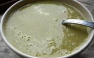 Soupe de Courgettes, Petits Pois et Boursin