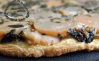 Tarte Tatin de Navets, Choux Raves et Feuilles et Feta à l'Oignon