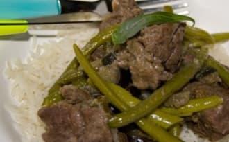 Thai jungle curry de marcassin.