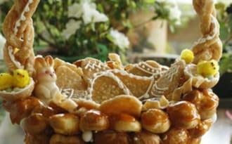 Panier de Pâques : choux et nougatine
