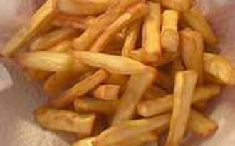 Frites et chips de patate douce