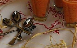 Gaspacho de pastèques et tomates