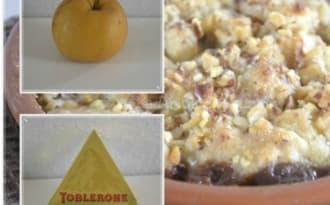 Crumble de Nashis au Toblerone