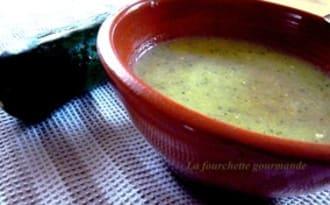Soupe Courgette sésame