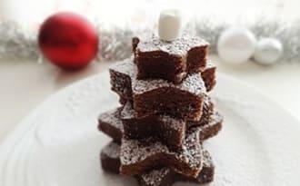 Petits sapins enneigés au chocolat