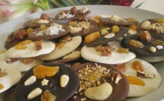 MENDIANTS AUX 3 CHOCOLATS