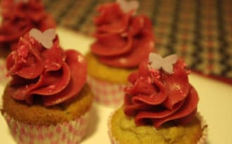 Cupcakes Kinder®, Milka® et Fraise Litchi