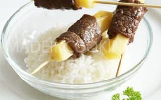 Brochettes de boeuf et de fromage-Yakitori boeuf fromage