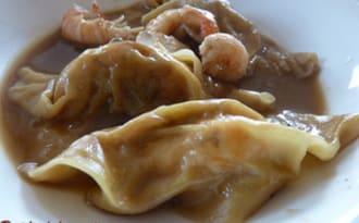 Raviolis chinois aux langoustines