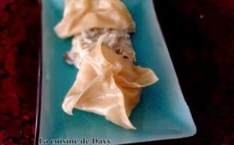 Raviolis de saint-jacques, fondue de poireaux