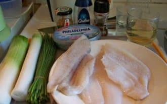 Roulés de carrelet à la sauce crémeuse
