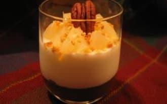 Verrine poire crême de marron et fromage blanc