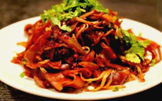 Wok de Pâtes de Riz au Satay