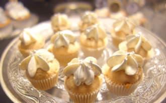 Mini cupcakes vanille / chocolat blanc