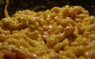 Spaetzles lardons crème comté