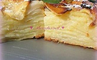 Gâteau invisible citronné aux pommes