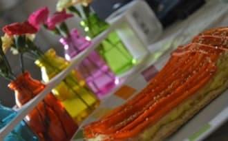 Tarte fine aux flocons d'avoine, panais, carottes et sésame