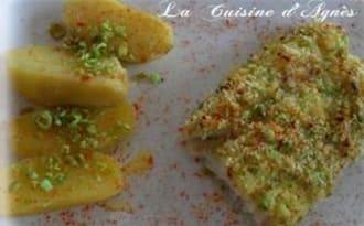 Dos de cabillaud en croûte de wasabi