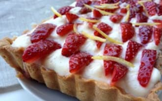 Tarte aux fraises et à la mousse de Lemon Curd
