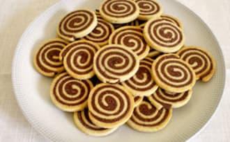 Sablés spirales amande, vanille et chocolat
