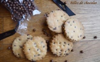 Sablés vanille et billes de chocolat