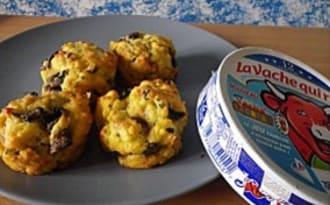 Muffins salés champignons et vache qui rit