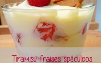 Tiramisu fraises spéculoos