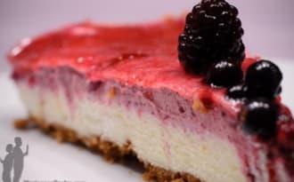 Bavarois aux fruits rouges, chocolat blanc et spéculoos